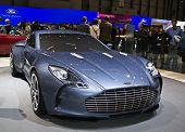 GENEVA - MARCH 7: Aston Martin on display at the 79th International Motor Show Palexpo-Geneva on Mar