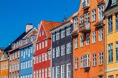 Colorful Houses Of Nyhavn District In Copenhagen, Denmark poster