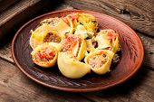Pasta Stuffed With Meat poster