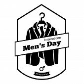 International Men Day Clothes Icon. Simple Illustration Of International Men Day Clothes Icon For We poster