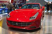 GENEVA - MARCH 8: The new Ferrari FF on display at the 81st International Motor Show Palexpo-Geneva on March 8, 2011 in Geneva, Switzerland.