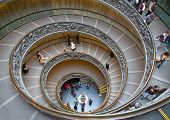 A double spiral staircase in Vatican, Italy