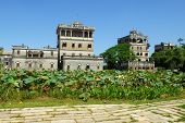The antique architectures of KaiPing in China.