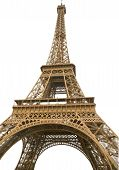 Eifel Tower Isolated With White Background - Paris, France, Output poster