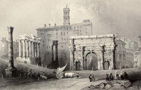picture of luigi  - Antique illustration of Roman Forum - JPG
