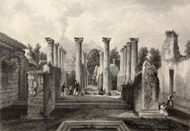 image of luigi  - Antique illustration of Pompeii roman house - JPG