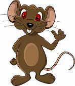 cute mouse cartoon isolated
