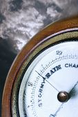 Closeup of weather barometer