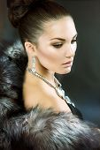 stock photo of mink  - Fur Fashion - JPG