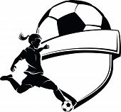 Girl Soccer Shield