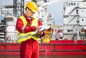 picture of drilling platform  - Safety officer - JPG