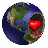 Bleeding Heart Of Mother Earth