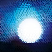 Plastic Blue Circle Mosaic - vector background with space for text