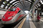 picture of passenger train  - Milan Italy  - JPG