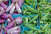 Okras And Eggplants
