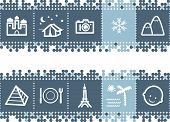 Blue Dots Bar With Tourist Guide Icons poster
