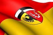Flagge von Wunsiedel, Deutschland.