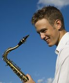 Young Man With Saxophone