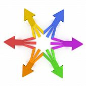 stock photo of regrouping  - 3D Arrows  - JPG