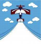 biplane cartoon background
