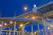 Bhumibol Bridge In Thailand, Also Known As The Industrial Ring