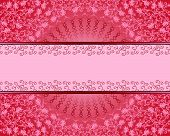 stock photo of pinky  - crimson vintage rectangular frame with a wavy circle and decorated with drops of pinky bar - JPG