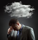 stock photo of rain cloud  - Stress - JPG