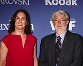 LOS ANGELES - JUN 12:  Kathleen Kennedy and George Lucas arrives at the Crystal and Lucy Awards 2013 at the Beverly Hilton Hotel on June 12, 2013 in Beverly Hills, CA
