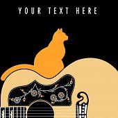 Acoustic Guitar Cat