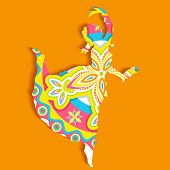 pic of bharatanatyam  - illustration of Indian classical dancer performing bharatnatyam - JPG