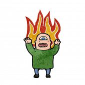 homem mutante ogro fogo Cartoon
