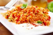 picture of tabouleh  - tabbouleh made of couscous and various vegetables - JPG