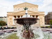 Fountain And Bolshoi Theater Of Moscow