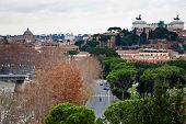 View From Aventine Hill In Rome, Italy