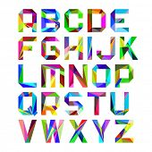 Bright alphabet letters. Vector.