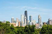 Chicago skyline afternoon view
