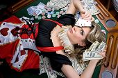 Poker Girl Won A Lot Of Money