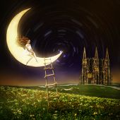stock photo of moon stars  - Wonderland - JPG