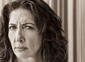 Stern Woman Portrait