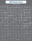 440 Vector Icons (wit)