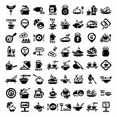 pic of continental food  - Elegant Food Icons Set Created For Mobile - JPG