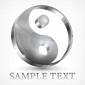 Yin Yang gris símbolo
