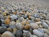 Pebbles On Chesil Beach, Dorset, England
