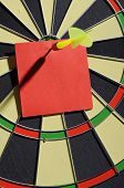 Red Paper Note With Dart Arrow