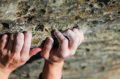 Rock Climber der hand