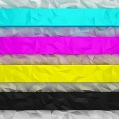 Cmyk Crumpled Stripes