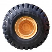 Tractor tire on white background ( isolated with paths)