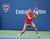 Grand Slam champion Petra Kvitova during first round match at US Open 2013 against Misaki Doi