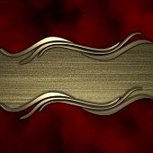 image of jade  - Red background with gold texture stripe layout - JPG