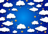 Sky Background With A Blank Space